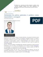 Autonomia da polícia judiciária - Henrique Hoffmann