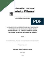 INFLUENCIA DE LA INFORMATICA EN EL APRENDIZAJE DE LAS MATEMATICAS
