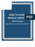 How to Learn Muscle Control Third Lesson by Otto Arco and Alan Calvert