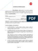 Acuerdo de Confidencialidad Comercializador