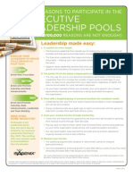 Leadership Pool Promo Flyer