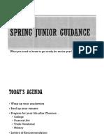 junior guidance - spring