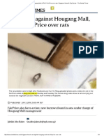 NEA to Act Against Hougang Mall, NTUC FairPrice Over Rats - SG Straits Times