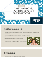 Antihistaminicos, Antivertiginosos y Antiemeticos