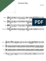 Take That Greatest Day String Quartet Score