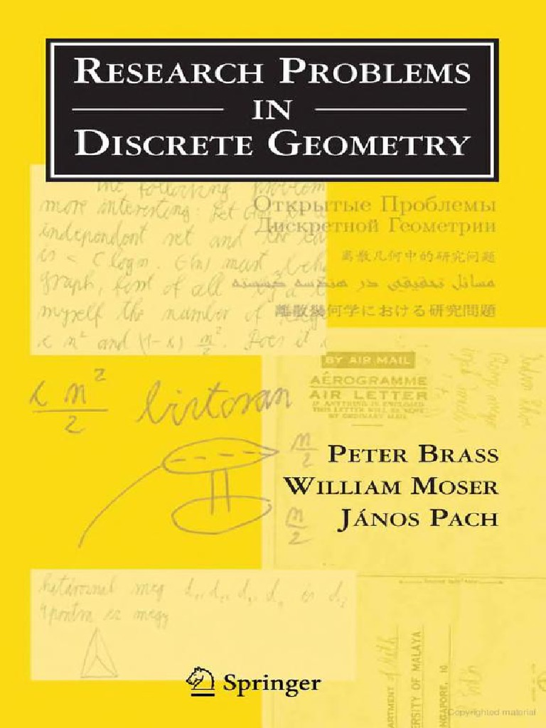 Brass-Research Problems in Discrete Geometry (ING) | Lattice (Group ...