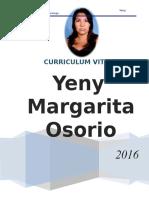 Curriculum Vitae Yeny Margarita Osorio