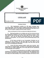 Civil Law 2015