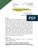 Estudios Organizacionales y Administracion Subrayado