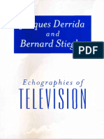Jacques Derrida Echographies of Television Filmed Interviews 2