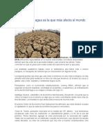 Crisis Del Agua Que Afecta Al Mundo