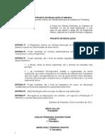 Projeto de Resolução Nº 001_2001
