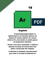 Trabalho Física Argônio