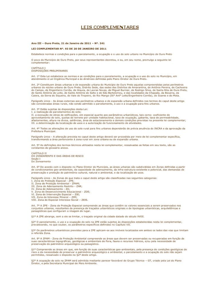 ab67e1a8b0e77 Leis Complementares Zoneamento Ouro Preto
