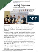 26-05-16 Reconoce SEP trabajo de Gobernadora Claudia Pavlovich en educación. -Canal Sonora