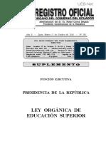 Ley Organica de Educacion Superior