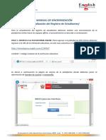 Manual de Sincronización de Registro EDO