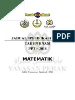 2016 - CONTOH JSU MATEMATIK