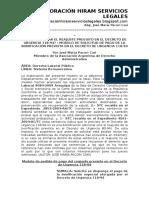 Cómo Solicitar El Reajuste Previsto en El Decreto de Urgencia 118-94 – Modelo de Solicitud de Pago de La Bonificación Prevista en El Decreto de Urgencia 118-94