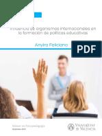 Influencia de organismos internacionales en la formación de políticas educativas