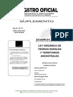 Ley Orgánica de Tierras Rurales y Territorios Ancestrales