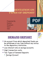 Presentation on Types of Deposit
