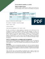 Casos Del Impuesto General a La Venta e Impuesto General de Venta