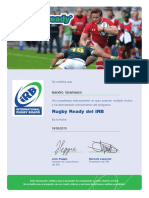 Rugby Ready Certificate 18-05-2015