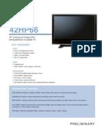Toshiba 42HP66 Specifications