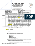 Body Worn Camera Draft Policy