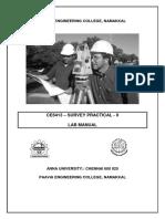 CE6413 Survey Practical II Lab Manual