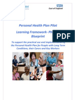 Personal Health Plan Pilot - Learning Framework - Phase 1 Blueprint