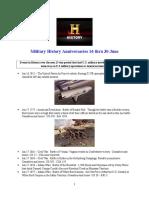 Military History Anniversaries 0616 Thru 063016