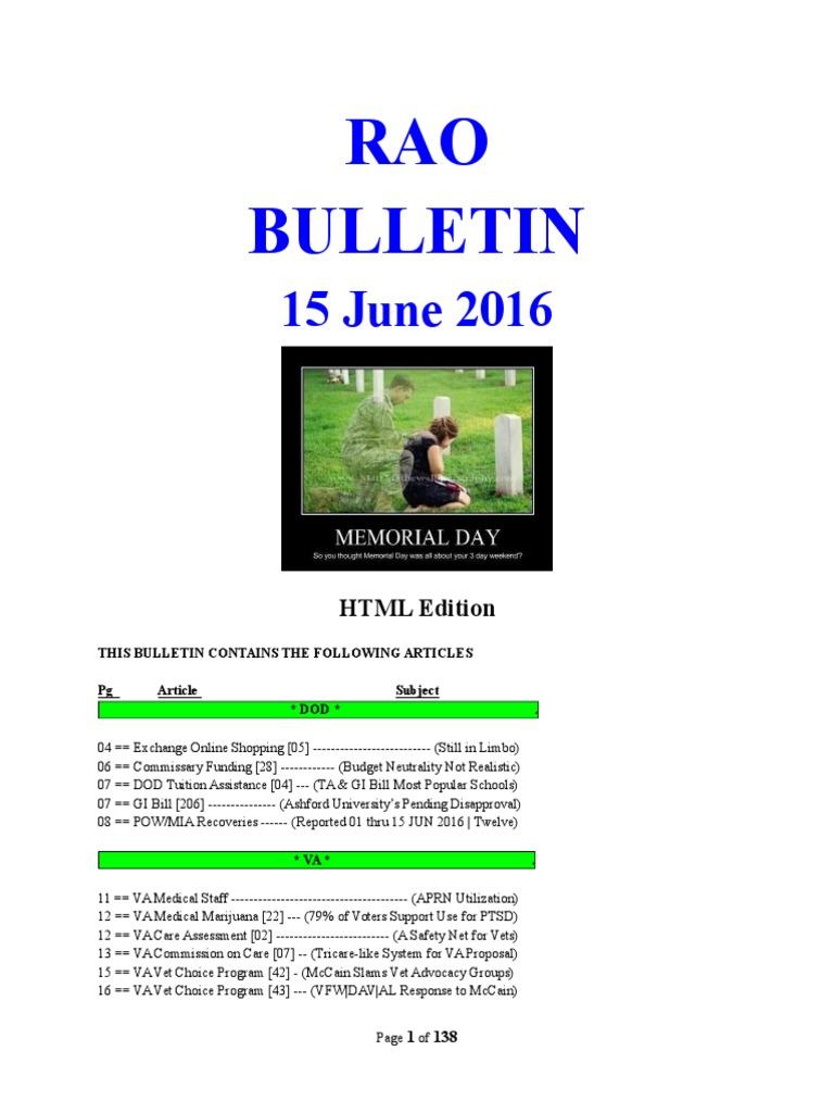Bulletin 160615html Edition Veterans Health Administration Veteran Voucher Map Rp 700000