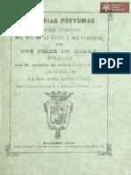 Memorias sobre el estado rural en 1801; demarcación de limítes entre el Brasil y Paraguay a ultimos del siglo XVIII de Felix de Azara; Madrid año 1847