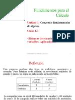 Sistemas de Ecuaciones en Dos Variables