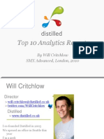 Critchlow Will, Top 10 Analytics Reports