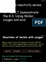 Chapter 10 the Reactivity Series