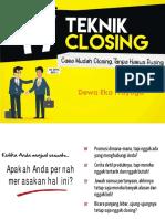 17 Teknik Closing