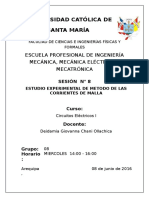 ESTUDIO EXPERIMENTAL DE METODO DE LOS POTENCIALES DE NODOS.