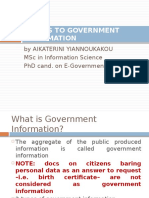 Access to Government Information