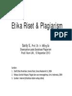 Bahan Presentasi Sosialisasi Plagiarism Prodi Ilkom 1
