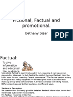 fictional factual and promotional