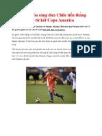 Sanchez Tỏa Sáng Đưa Chile Tiến Thẳng Vào Tứ Kết Copa America