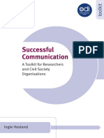 A Succesfull for Comunication - A Toolkit for Researchers