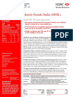 MSIL Analyst Report