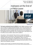Handling Employees at the End of an FMLA Leave