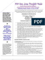 2010 San Jose Punjabi Mela Sponsorship Fact Sheet