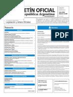 Boletín Oficial de la República Argentina, Número 33.400. 15 de junio de 2016