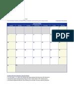 Excel 2016 Calendar